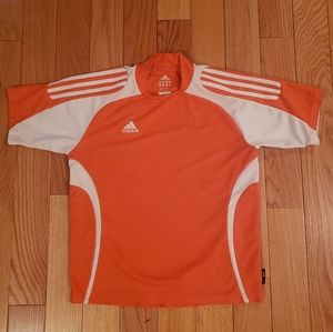 Boys Adidas Climalite Orange Top size M